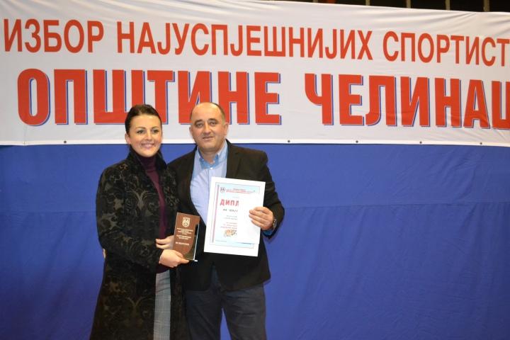 ministar Sonja Davidovic i predsjednik FK Snjegotina Dalibor Vujicic