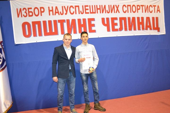 proslogodisnji najuspjesniji sportista Nikola Zeljic i Damjan Predic